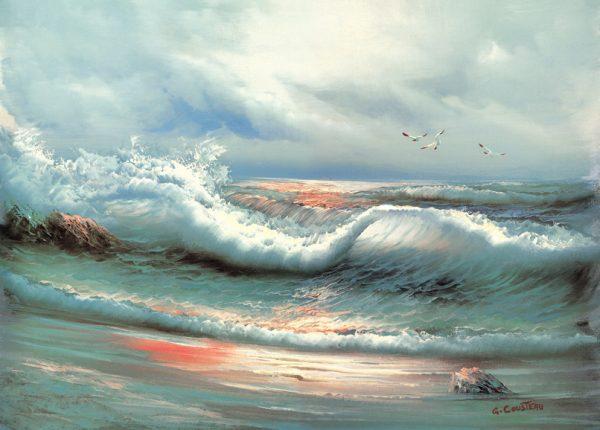 SO-70104 - Onda sulla spiaggia - G. Cousteau