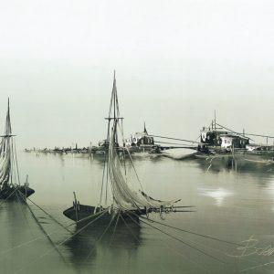 SO-70385 - Barche nella rada I° - Boldini