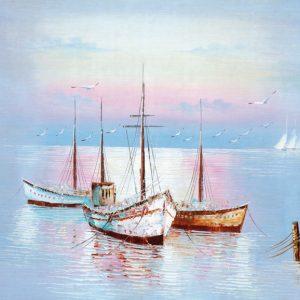 SO-70421 - Barche all'ormeggio I° - M. Gentilini