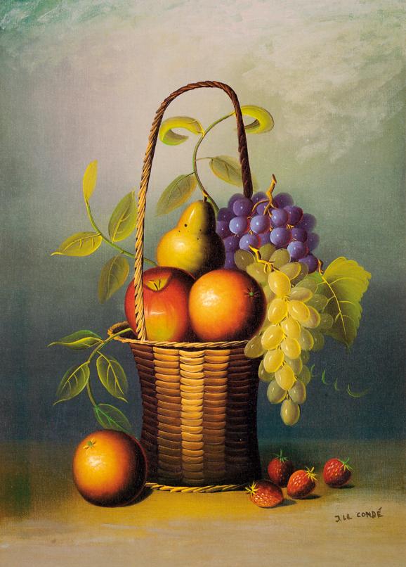SO-70737 Natura morta con frutta - J. Le Condè