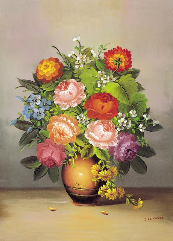 SO-70738 - VaSO-di fiori con peonie - J. Le Condé
