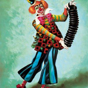 SO-70794 - Clown con fisarmonica - G.R. Malpar