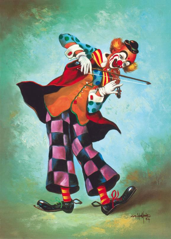SO-70795 - Clown con violino - G.R. Malpar