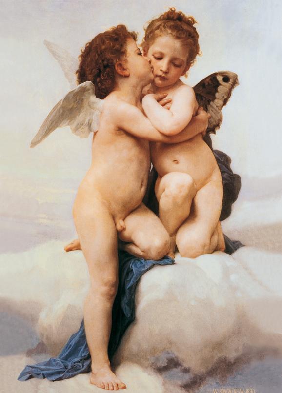 SO-70988 - Amore e Psiche bambini - W. Bouguereau