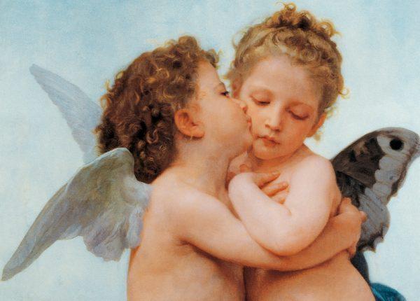 SO-70989 - Amore e Psiche bambini - particolare - W. Bouguereau