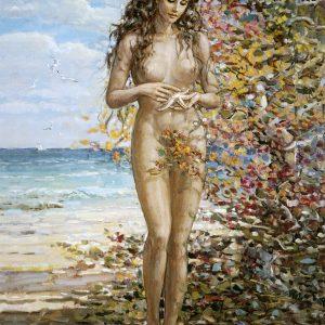 SO-71018 - Nudo sulla spiaggia - Crespi