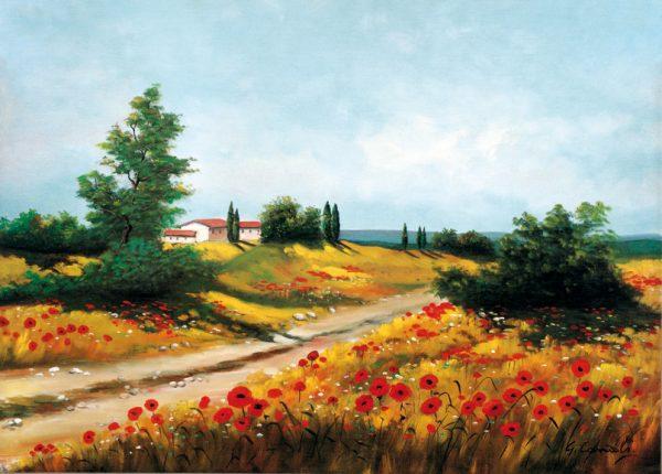 SO-71040 - Paesaggio con papaveri - G. Canali