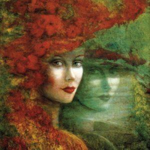 SO-71073 - Ritratto di donna con cappello rosSO-- R. Sutzkever