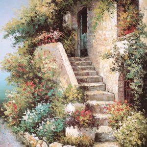 SO-71330 - Scalinata con fiori - C. Flink