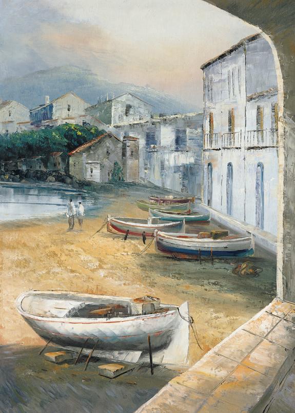 SO-73122 - Barche in secca - G. Fleming