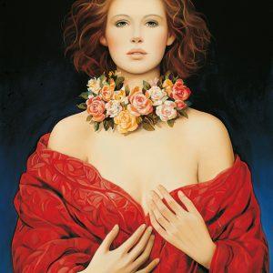 SO-73196 - Ritratto di donna con ghirlanda di fiori - Picazio
