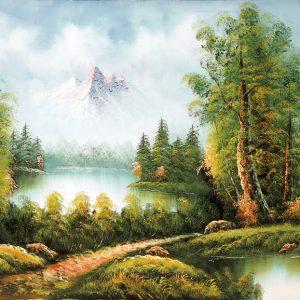 SO-73215 - Piccoli laghi ai piedi della montagna - P. Lande