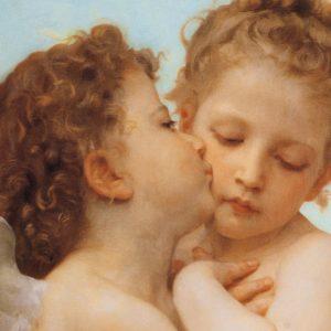 """SO-73222 - Particolare da """"Amore e Psiche"""" di W. Bouguereau"""