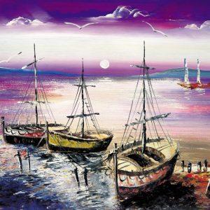 SO-73315-R - Barche in secca - G. Fleming