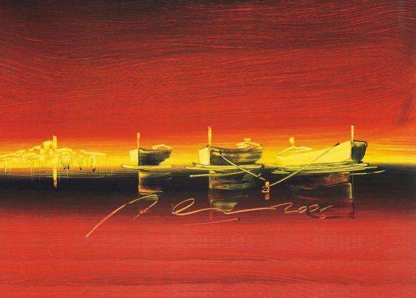SO-73333 - Barche in rosSO-- I. Celic