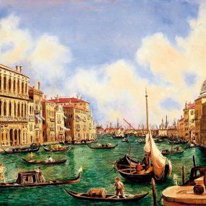 SO-73459 - dal Canaletto, Vista di Venezia: il Canal Grande - di anonimo