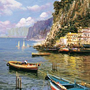 SO-73966 - Rada con barche all'ormeggio - E. Variale