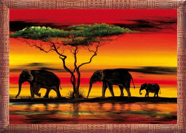 SO-74090 - Elefanti in riva al fiume - Rajco