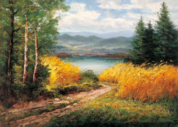 SO-74333 - Piccolo lago in collina - L. Harding