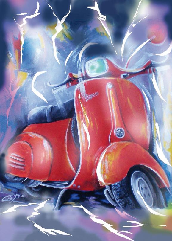 SO-74344 - Vespa in rosso - P. Colle