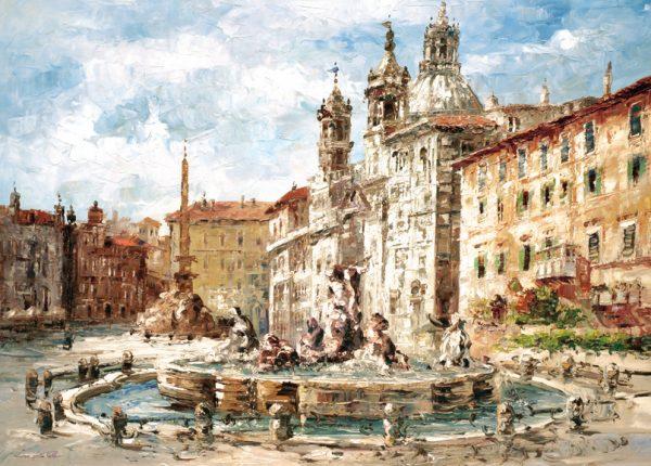 SO-74429 - Roma, La fontana di Piazza Navona - L. Della Valle