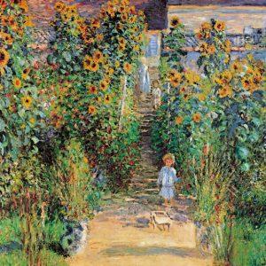 SO-7677 - Il giardino dell'artista a Vétheuil, 1880 - C. Monet.